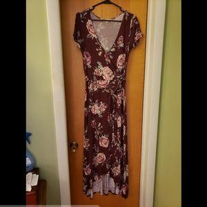 High Slit Floral Dress